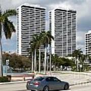 Trump Plaza In Downtown West Palm Beach Skyline Art Print