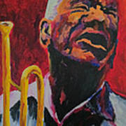 Trumpeter Shades Of Red Art Print