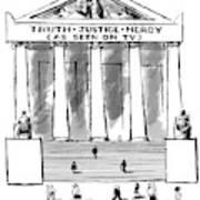 Truth Justice Mercy Art Print