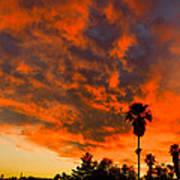 Tucson Arizona Sunrise Fire In The Sky Art Print