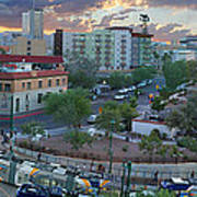 Tucson Streetcar Sunset Art Print