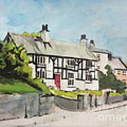 Tudor Cottage Cheshire England Art Print