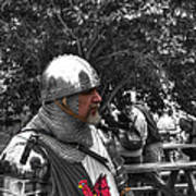Tudor Knight In Armor  V1 Art Print