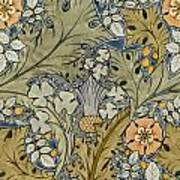 Tudor Roses Thistles And Shamrock Art Print