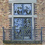 Tudor Style Windows With Balcony Art Print
