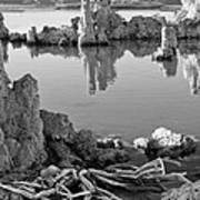 Tufa In Black And White Art Print