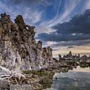 Tufas And Clouds Art Print