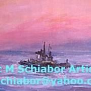 Tug At Sunrise Art Print