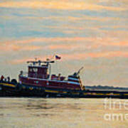 Tug Boat Hard At Work Art Print