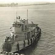 Tug Boat In Puerto Rico 1956 Art Print