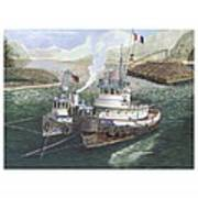 Gale Warning Safe Harbor Art Print