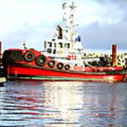 Tugboat Captain Art Print