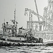 Tugboat Martha Foss Art Print