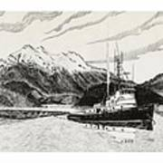 Skagit Chief Tugboat Art Print