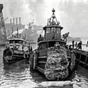 Tugboat Winter  1946 Art Print