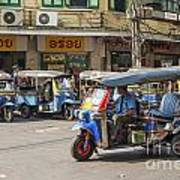 Tuk Tuk Taxis In Bangkok Thailand Art Print