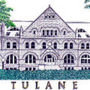 Tulane Art Print by Frederic Kohli