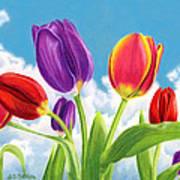 Tulip Garden Art Print by Sarah Batalka