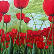 Tulipanes  Art Print