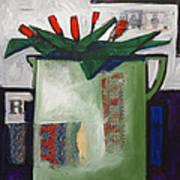 Tulipani T19 -oil On Canvas 100x100 Cm Art Print