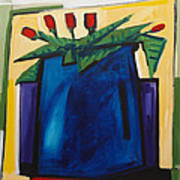 Tulipani T22 -oil On Canvas 100x100 Cm Art Print