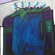 Tulipani T8- Oil On Canvas100x100 Cm Art Print