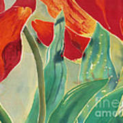 Tulips And Pushkinia Upper Detail Art Print by Anna Lisa Yoder