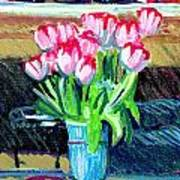 Tulips And Valentines Art Print