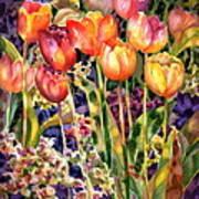 Tulips Art Print by Ann  Nicholson