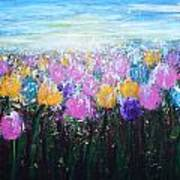 Tulips At Sunrise Art Print