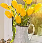 Tulips In Antique Jug Art Print