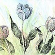 Tulips In Ink Art Print