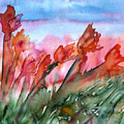 Tulips In The Wind Art Print
