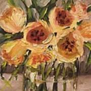 Tulips In Yellow By Alabama Artist Angela Sullivan Art Print