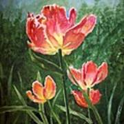 Tulips On Fire Art Print