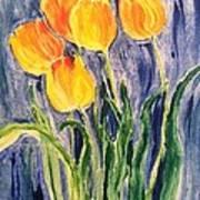 Tulips Art Print by Sherry Harradence