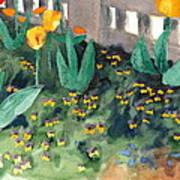 Tulips Watercolor Painting Art Print