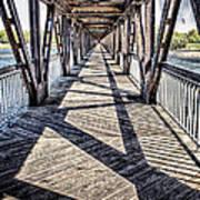 Tulsa Pedestrian Bridge Art Print by Tamyra Ayles