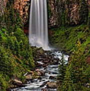 Tumalo Falls Art Print by Pamela Winders