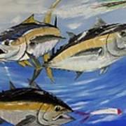 Tuna Attack Art Print
