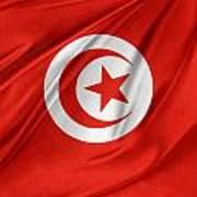 Tunisia Flag Art Print
