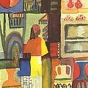 Tunisian Market Print by August Macke