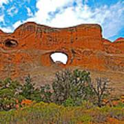 Tunnel Arch On Devils Garden Trail In Arches National Park-utah In Arches National Park-utah Art Print