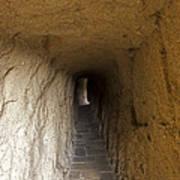 Tunnel At Meteora Monastery   #9763 Art Print