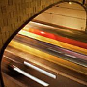 Tunnel Light Trails Art Print