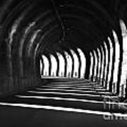 Tunnel With Shadows Art Print