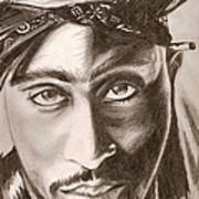 Tupac Art Print by Michael Mestas