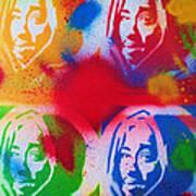 Tupac V Warhol Art Print