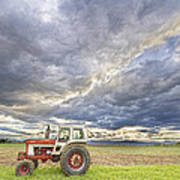 Turbo Tractor Country Evening Skies Art Print by James BO  Insogna