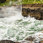 Turbulent Devils Churn - Oregon Coast Art Print